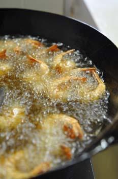 海老の殻炒め