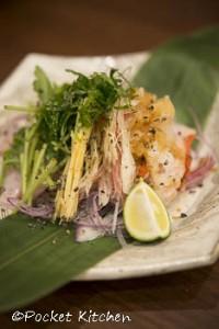 炙り金目鯛の香味野菜