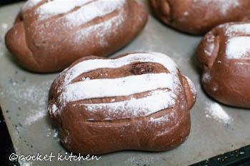 ココアのチョコチップパン