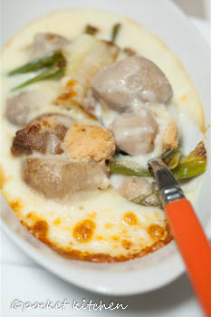 里芋と鶏肉の煮物グラタン